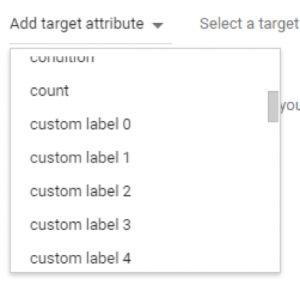 how to set target attributes google shopping feed