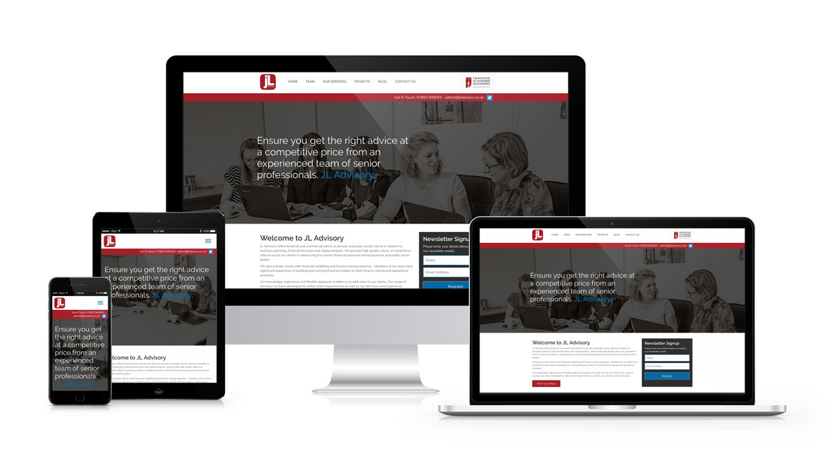 JL Advisory WordPress Website Design and Development by the ArtLab, Trafford Park, Manchester